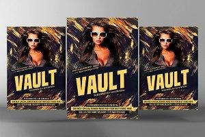 Vault Mix Party Flyer
