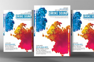Color Smoke Flyer Psd Templates