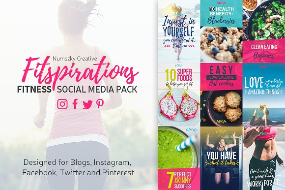 Fitspirations - Social Media Pack