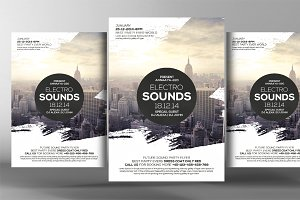 Electro Sound Flyer Template