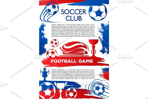 Football Sport Game Poster Of Soccer Club Match