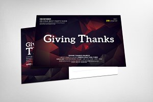 Thanks Giving Postcard Template