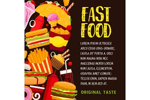 Fast food restaurant banner or poster design