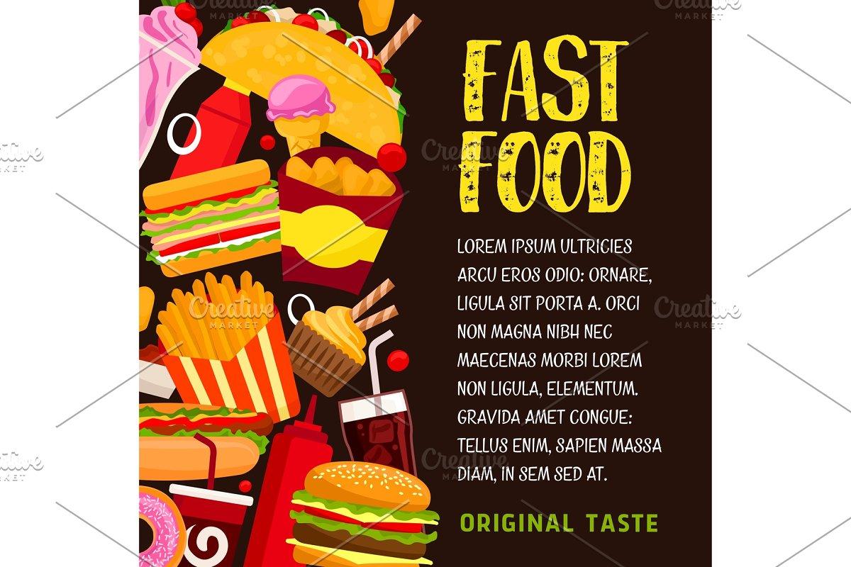 Fast food restaurant banner or poster design