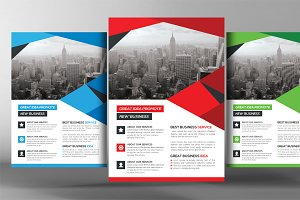 Shape Flyers Template