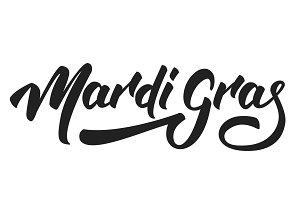 Mardi Gras. Lettering Mardi Gras for Fat Tuesday Holiday