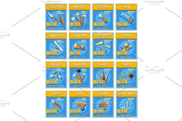 Repair Tools And Equipment Price Labels