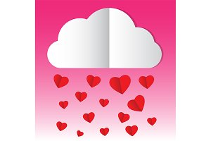 paper cloud heart rain