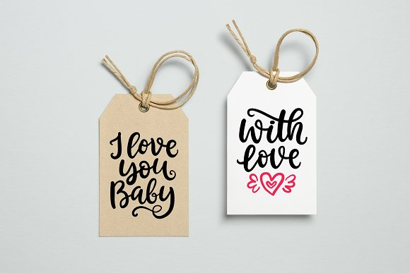 Valentine's Day Lettering in Objects - product preview 2
