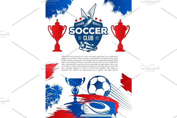 Football Sport Game Banner For Soccer Club Design