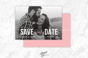 Pink Save the Date Card Template