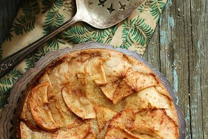 Homemade German apple cake
