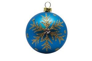 Blue dull christmas ball