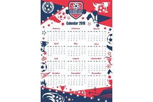 Football sport calendar of soccer cup