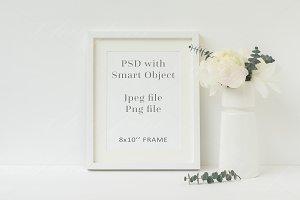 Floral frame mockup 8x10 - wfr110