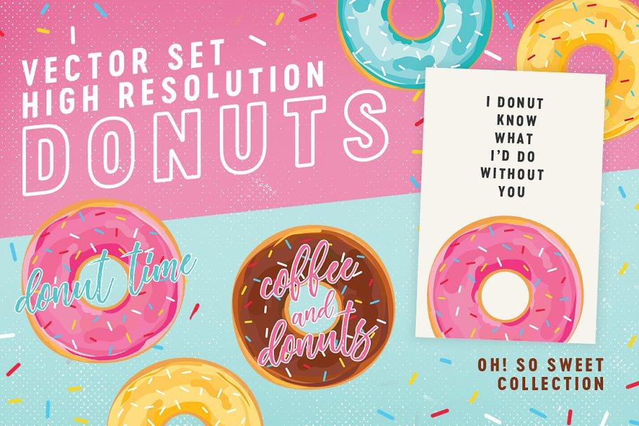 Donuts Vector Illustration Set