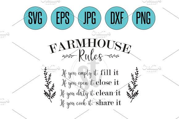Farmhouse Rules 2 Svg Cut File Creative Daddy