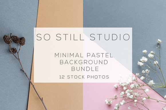 Minimal pastel background bundle