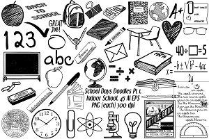 School Days Doodles PT 1, AI EPS PNG