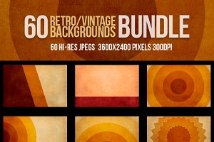 60 Retro Vintage Backgrounds