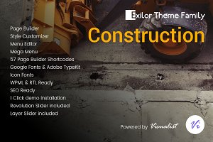 Exilor Construction WordPress Theme