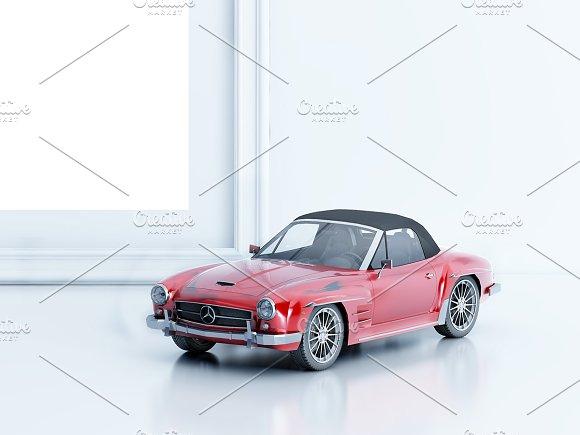 Frame/Poster Mockup Car thumbnail in Print Mockups - product preview 1