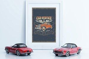 Frame/Poster Mockup Car thumbnail