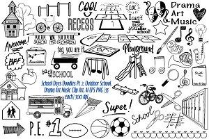 School Days Doodles Pt. 2 AI EPS PNG