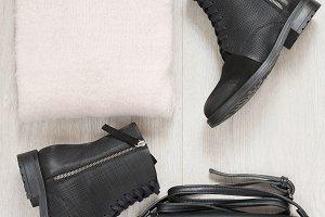 Women trendy fashion clothes collage