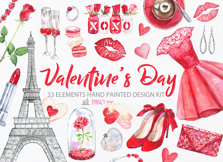 Valentine\'s day. Valentine clipart ~ Illustrations ~ Creative Market