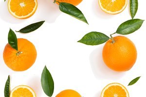Citrus fruit background - oranges.
