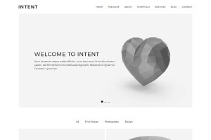 Intent - Minimal Portfolio Theme
