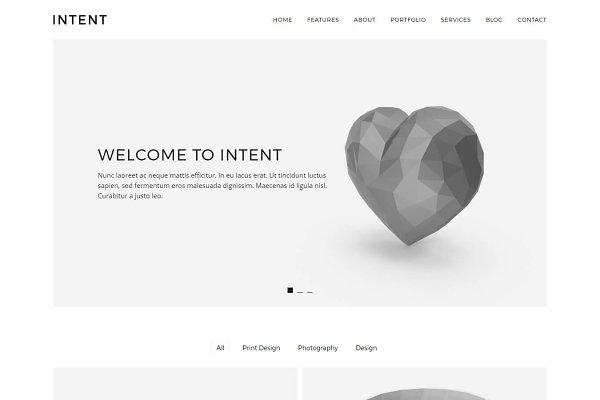 WordPress Portfolio Themes: Lucid Themes - Intent - Minimal Portfolio Theme