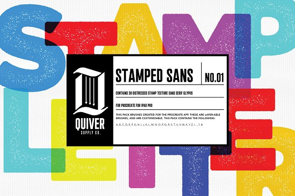 Procreate Stamped Sans Letter Brush