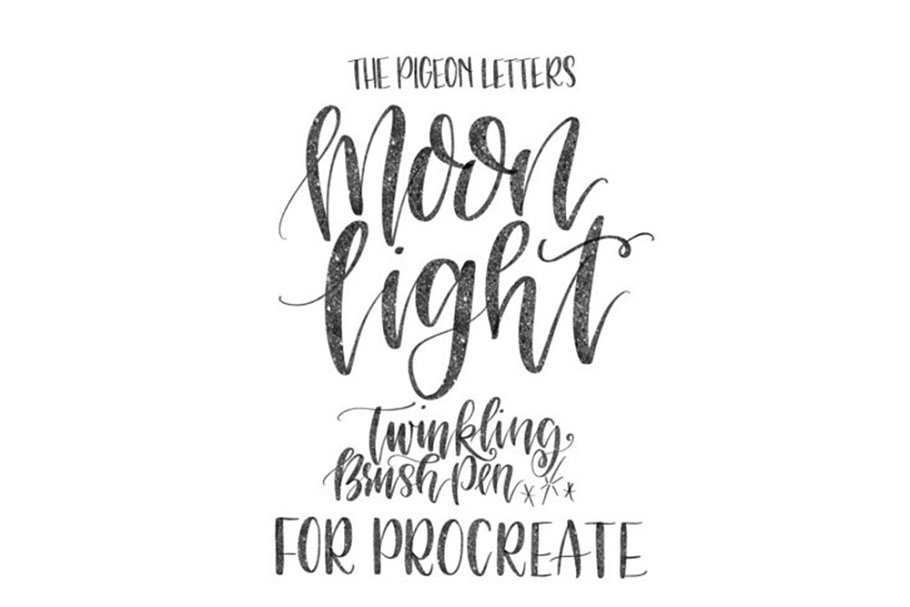 Procreate Sparkly Lettering Brush in Photoshop Brushes - product preview 8