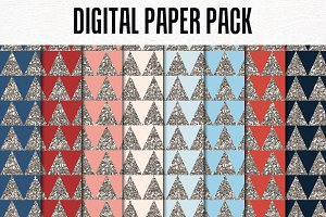 Digital Paper Pack: Glitter Triangle