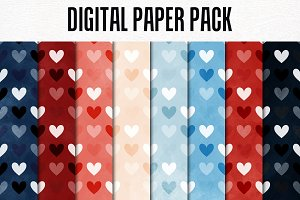 Digital Paper Pack: Hearts 6