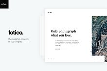 Fotico – Photography HTML Template by Artyom Davydov in HTML/CSS