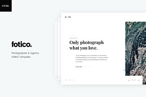 Fotico – Photography HTML Template
