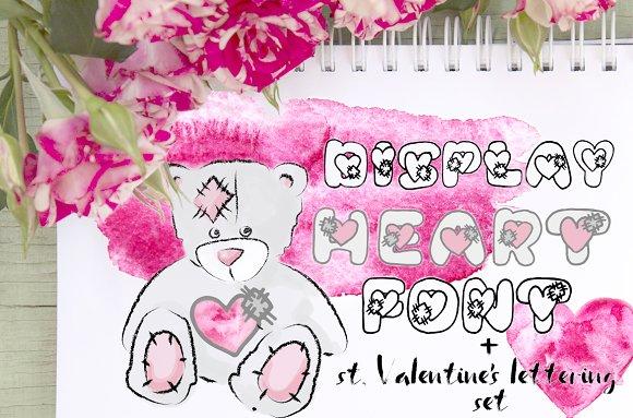 Saint Valentin's Day Lettering Set