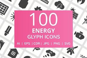 100 Energy Glyph Icons