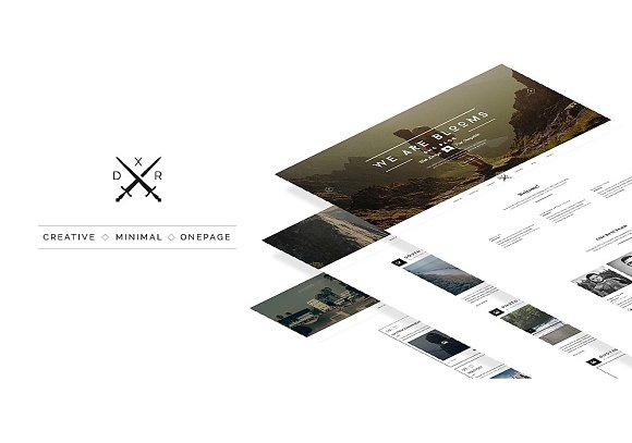 Blooms One Page Psd Web Template