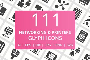 110 Networking & Printers Glyph Icon
