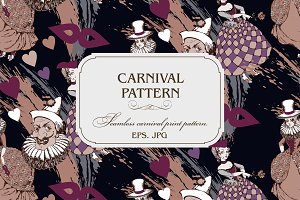Seamless pattern. Carnival