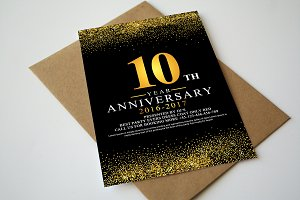Anniversary Invitation+Rsvp Template