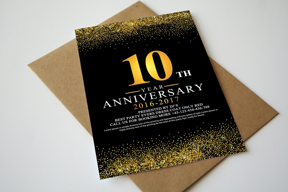 Anniversary Invitation+Rsvp Template | Creative Postcard Templates ...