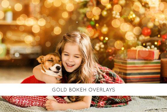 Gold bokeh overlays