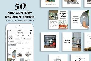 50 Mid-Century Modern Instagram Pack