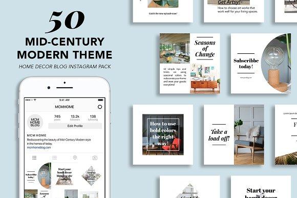50 Mid-Century Modern Insta-Graphicriver中文最全的素材分享平台