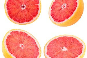 Collection of sliced grapefruit